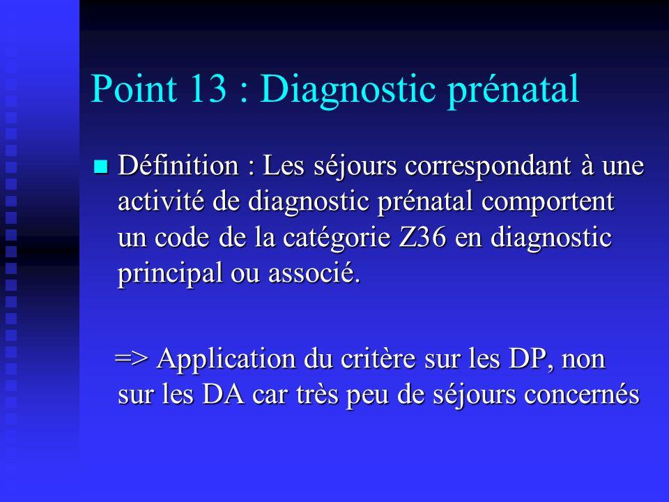 Point 13 : Diagnostic prénatal