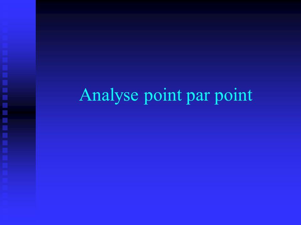 Analyse point par point