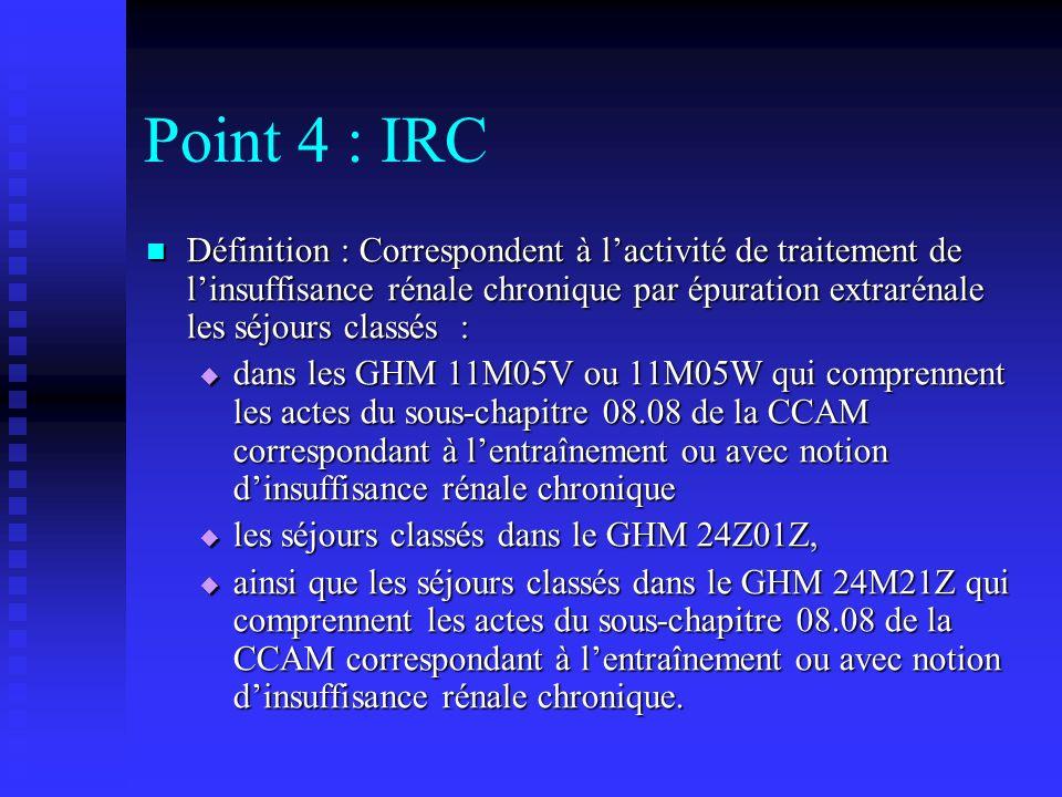 Point 4 : IRC