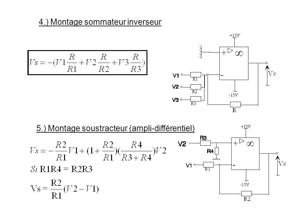 4.) Montage sommateur inverseur