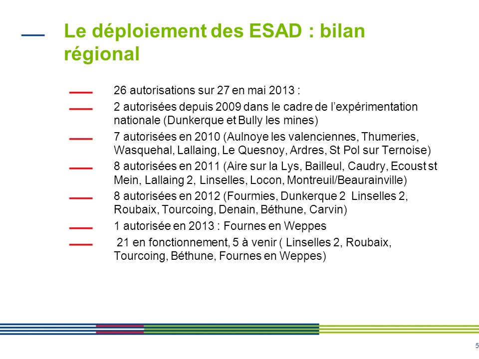 Le déploiement des ESAD : bilan régional