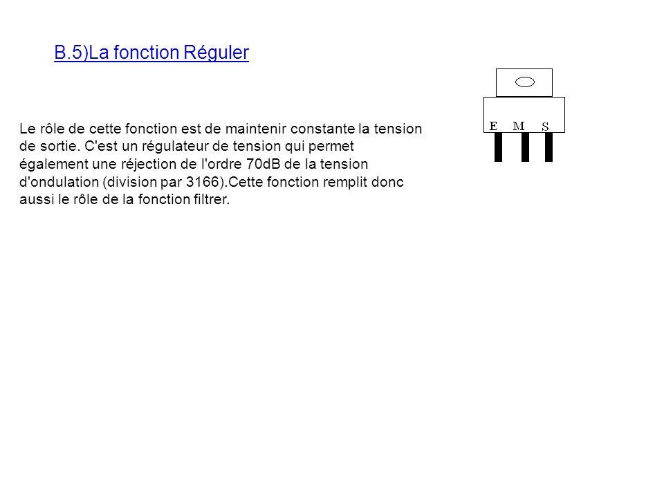B.5)La fonction Réguler