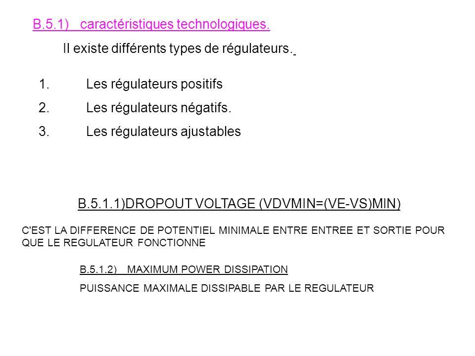 B.5.1) caractéristiques technologiques.