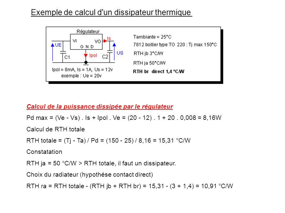 Exemple de calcul d un dissipateur thermique