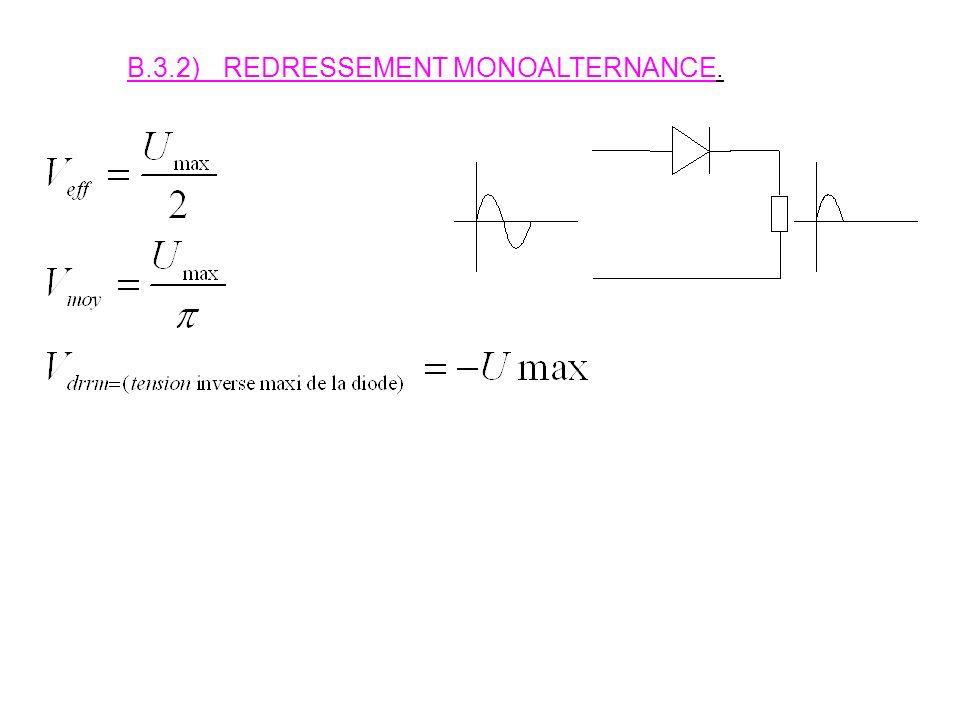 B.3.2) REDRESSEMENT MONOALTERNANCE.