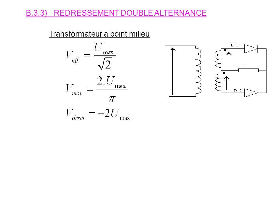 B.3.3) REDRESSEMENT DOUBLE ALTERNANCE