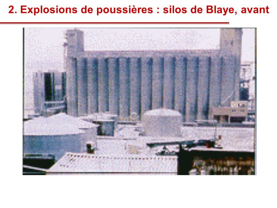 2. Explosions de poussières : silos de Blaye, avant