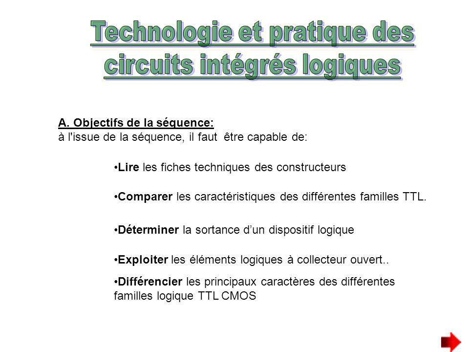 Technologie et pratique des circuits intégrés logiques