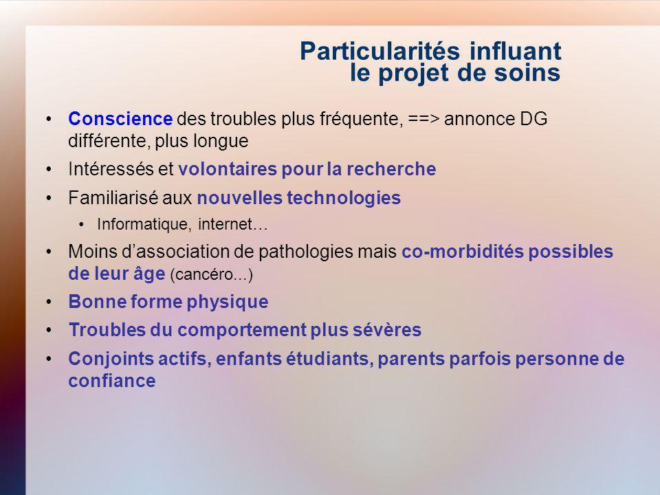 Particularités influant le projet de soins