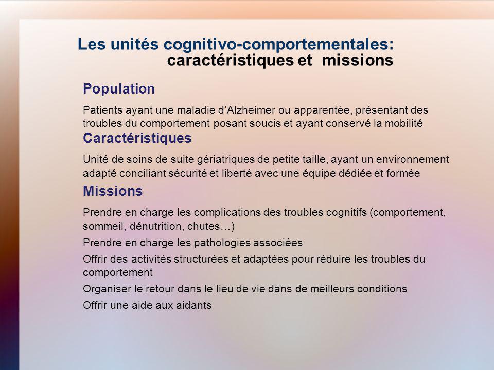 Les unités cognitivo-comportementales: caractéristiques et missions