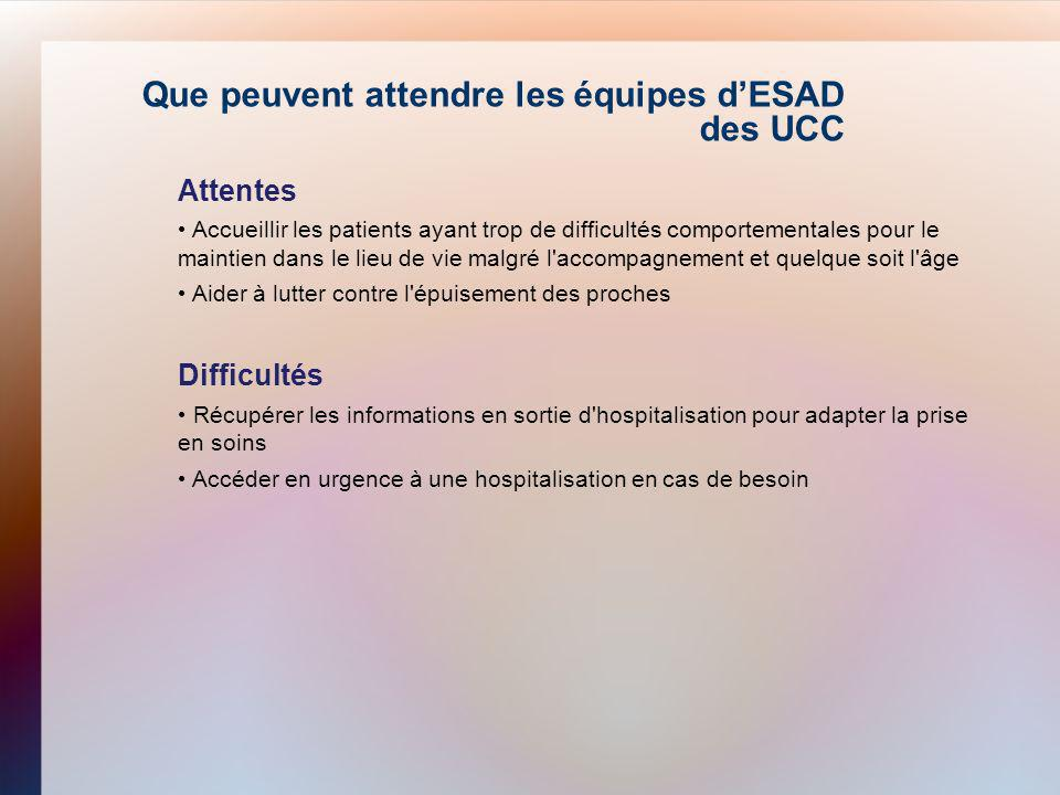Que peuvent attendre les équipes d'ESAD des UCC