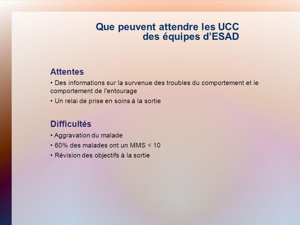 Que peuvent attendre les UCC des équipes d'ESAD