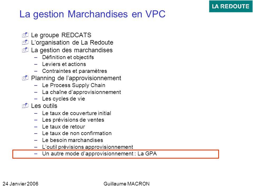 La gestion Marchandises en VPC