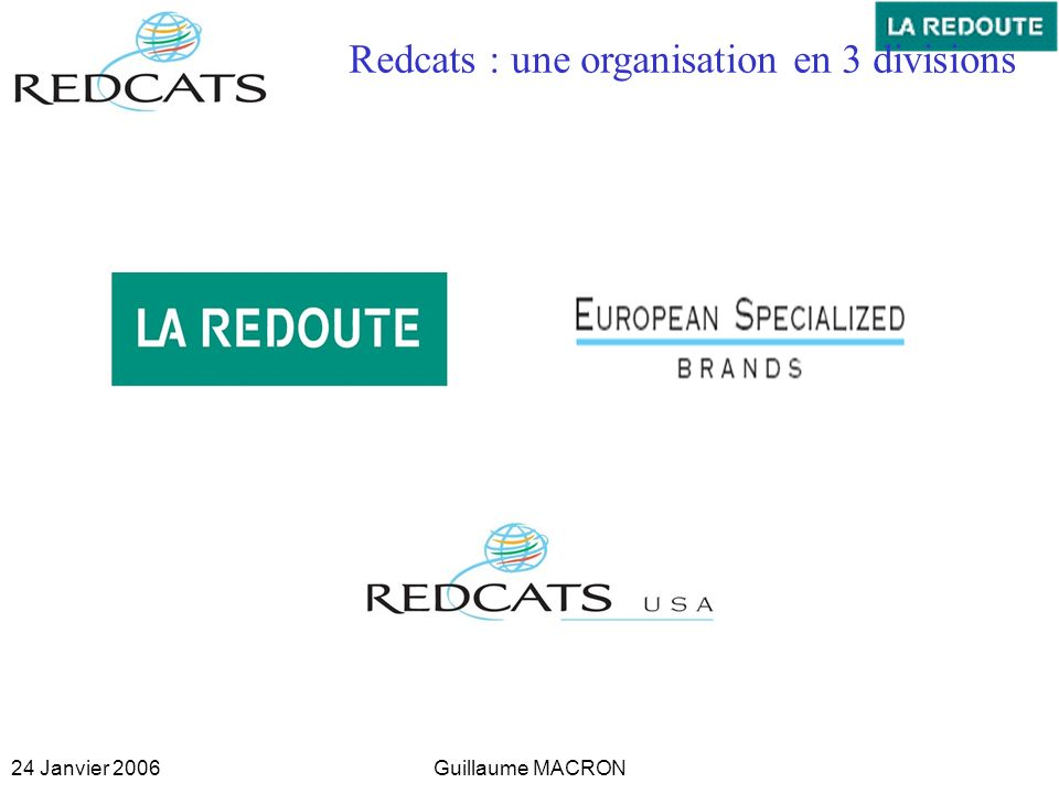 Redcats : une organisation en 3 divisions