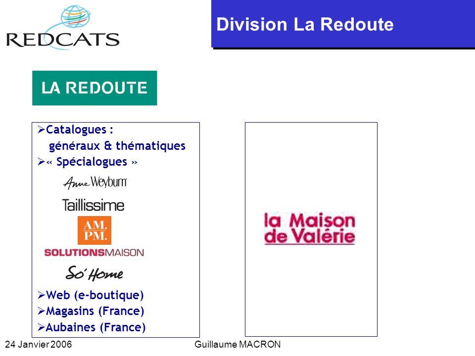 Division La Redoute Catalogues : « Spécialogues » Web (e-boutique)