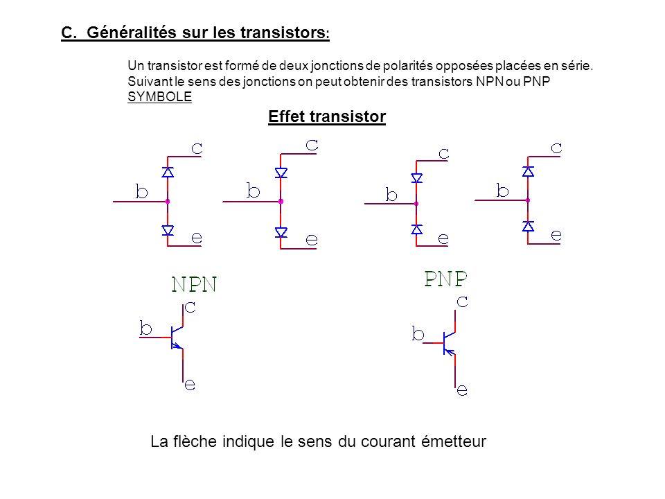 C. Généralités sur les transistors: