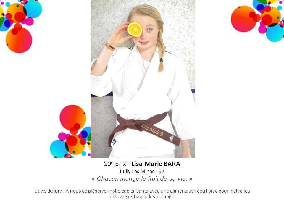 10e prix - Lisa-Marie BARA