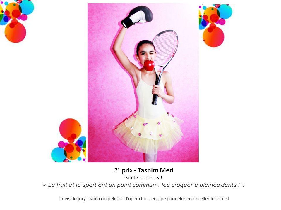 2e prix - Tasnim Med Sin-le-noble - 59. « Le fruit et le sport ont un point commun : les croquer à pleines dents ! »