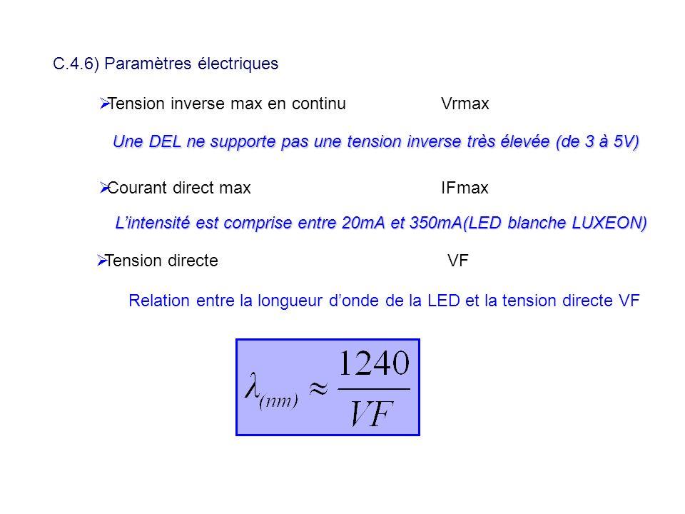 C.4.6) Paramètres électriques