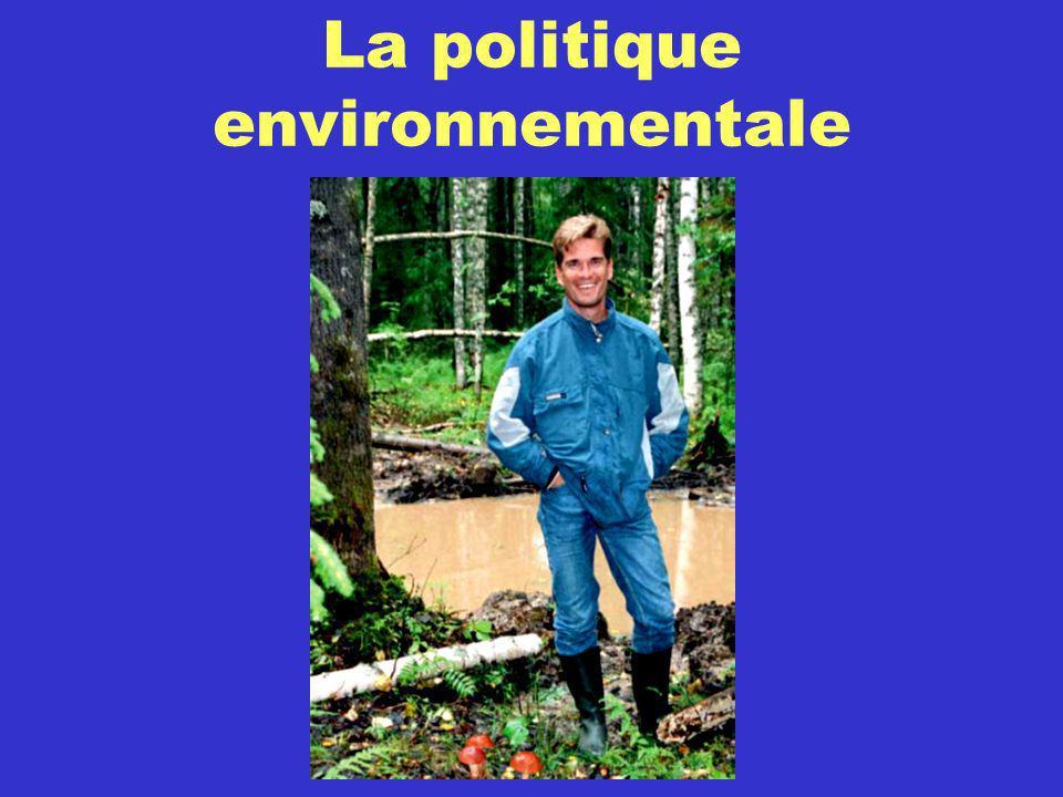 La politique environnementale