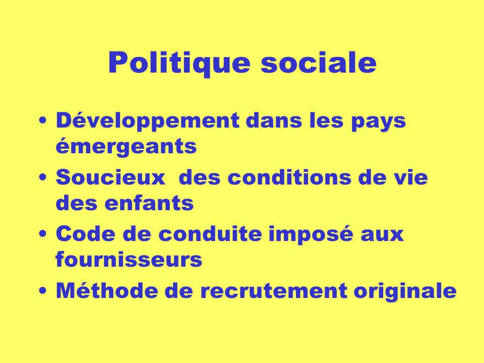 Politique sociale Développement dans les pays émergeants