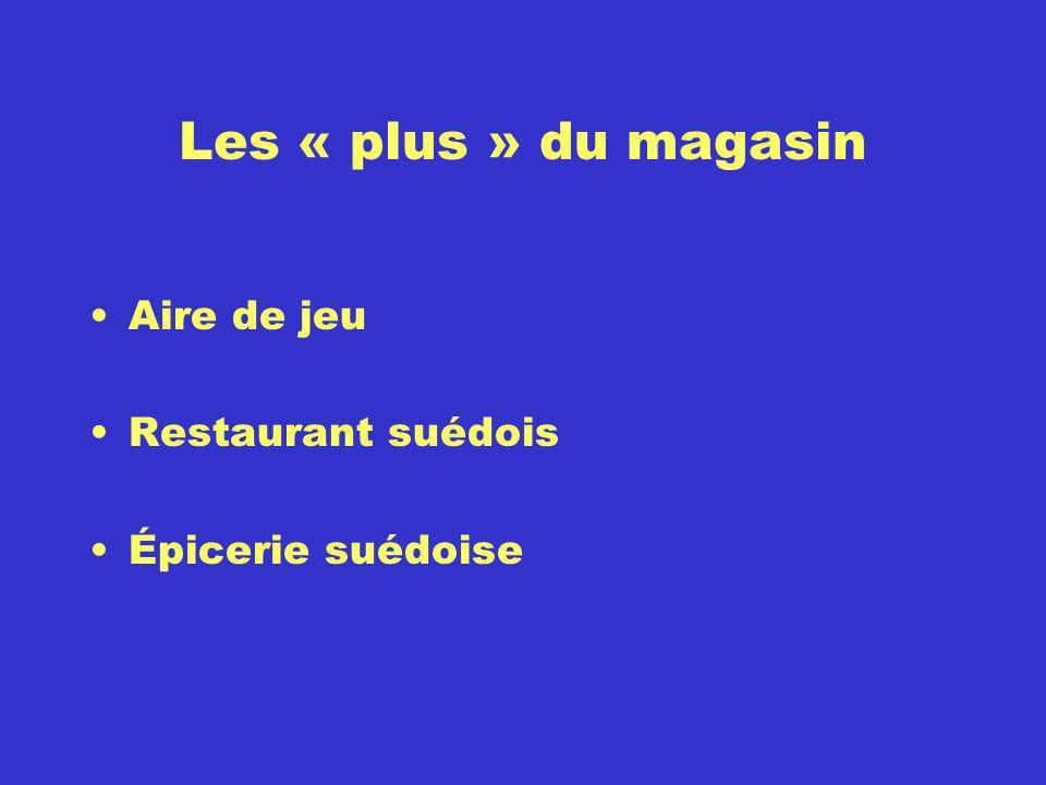 Les « plus » du magasin Aire de jeu Restaurant suédois