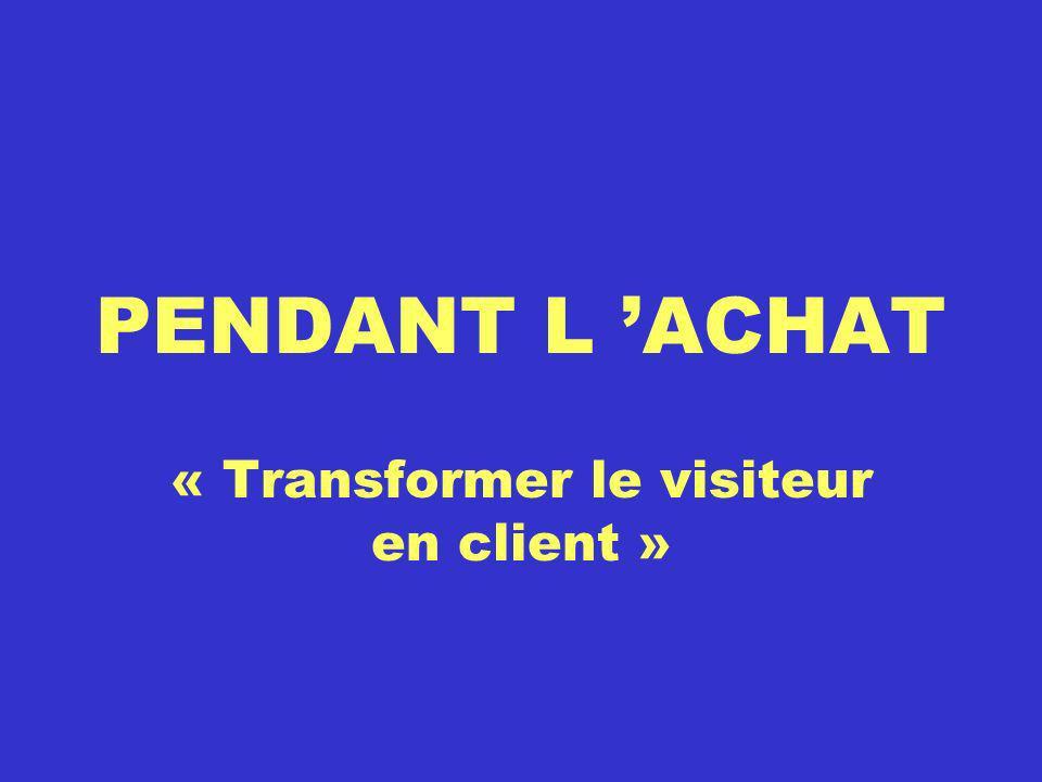 « Transformer le visiteur en client »