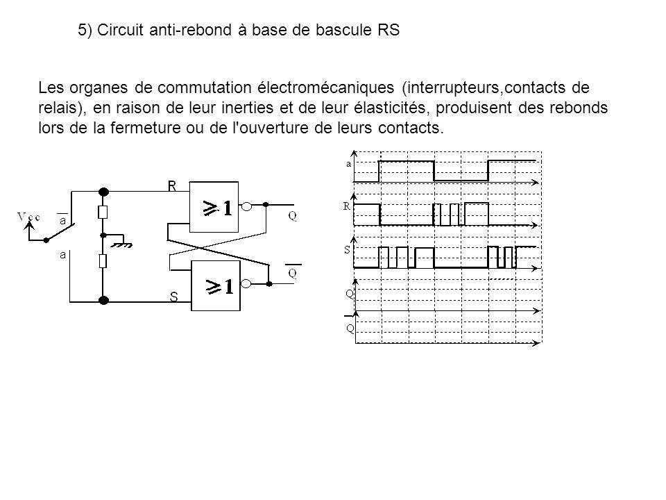 5) Circuit anti-rebond à base de bascule RS