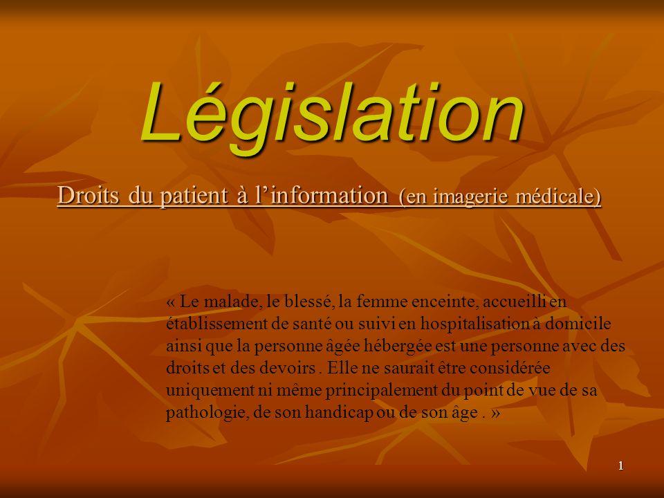 Droits du patient à l'information (en imagerie médicale)