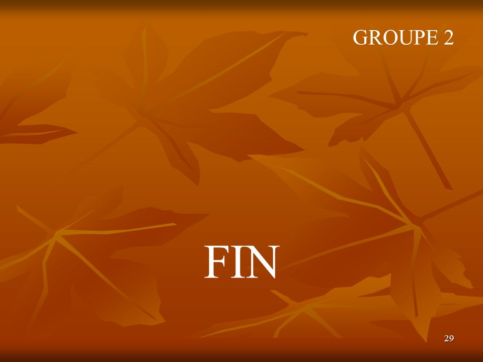 GROUPE 2 FIN