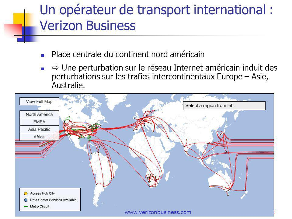 Un opérateur de transport international : Verizon Business