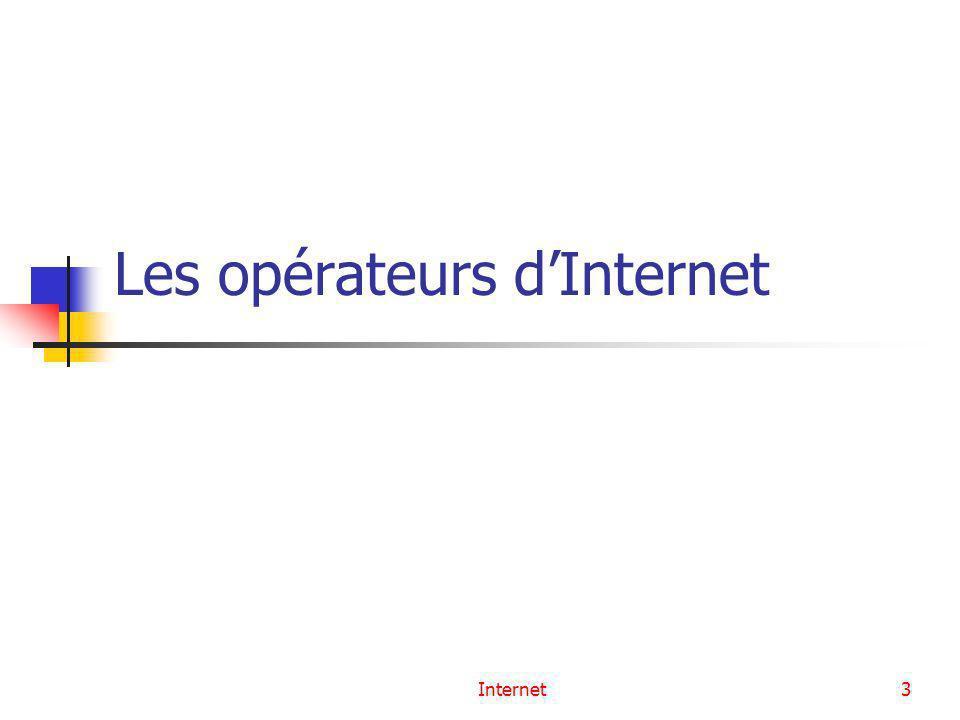 Les opérateurs d'Internet