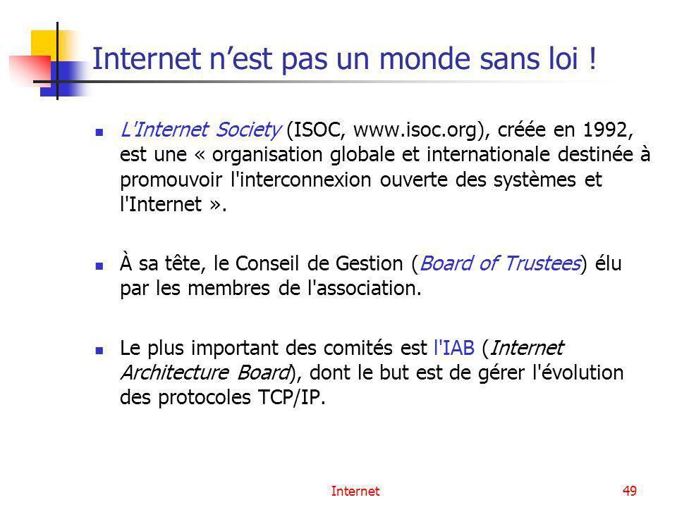 Internet n'est pas un monde sans loi !