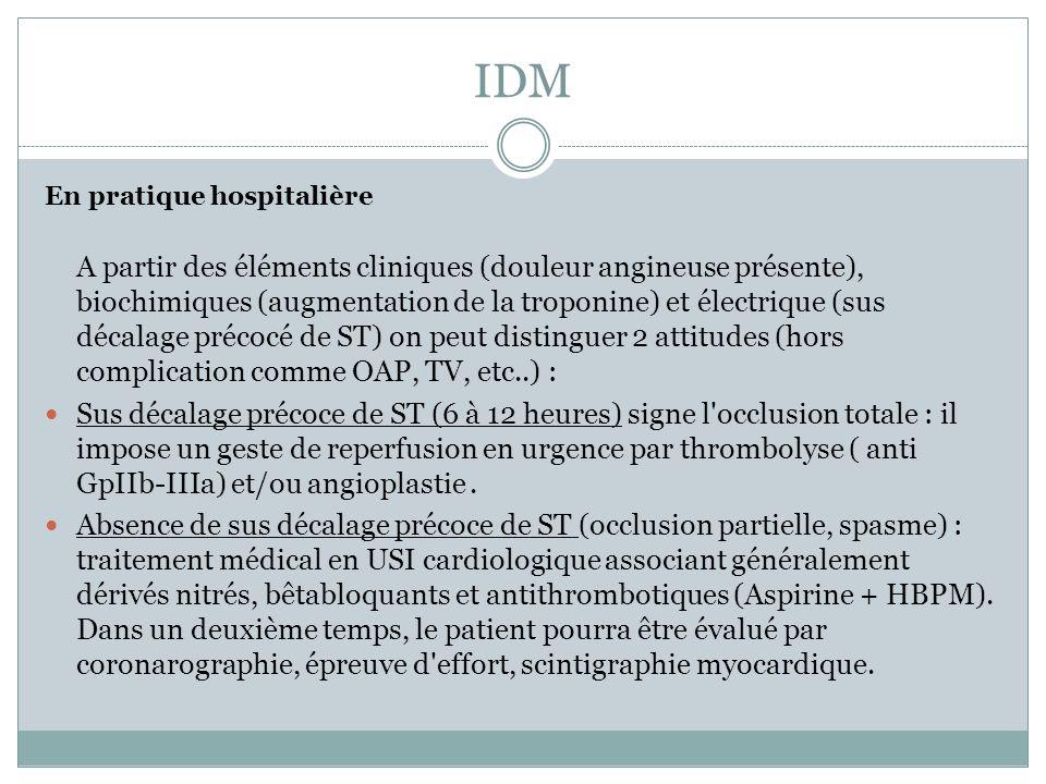 IDM En pratique hospitalière.