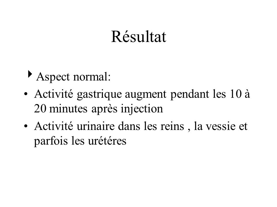 Résultat Aspect normal: