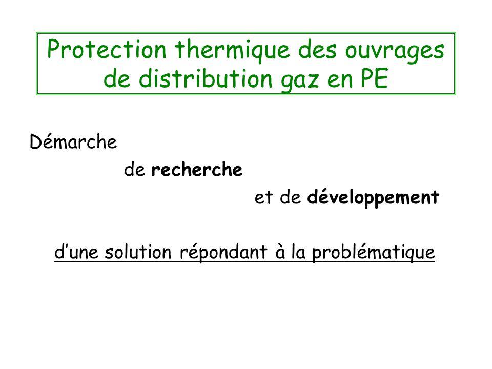 Protection thermique des ouvrages de distribution gaz en PE