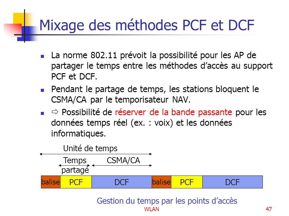 Mixage des méthodes PCF et DCF