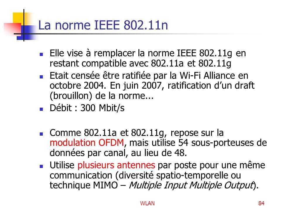 La norme IEEE 802.11n Elle vise à remplacer la norme IEEE 802.11g en restant compatible avec 802.11a et 802.11g.