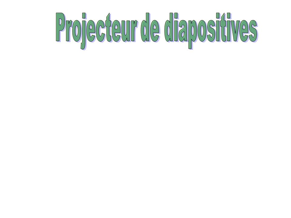 Projecteur de diapositives
