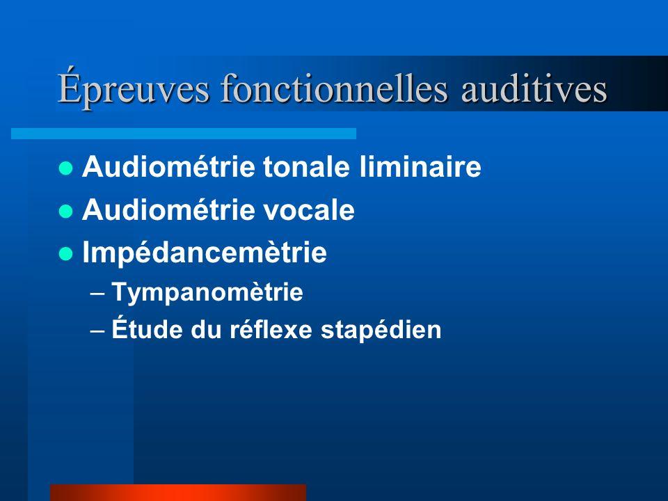 Épreuves fonctionnelles auditives