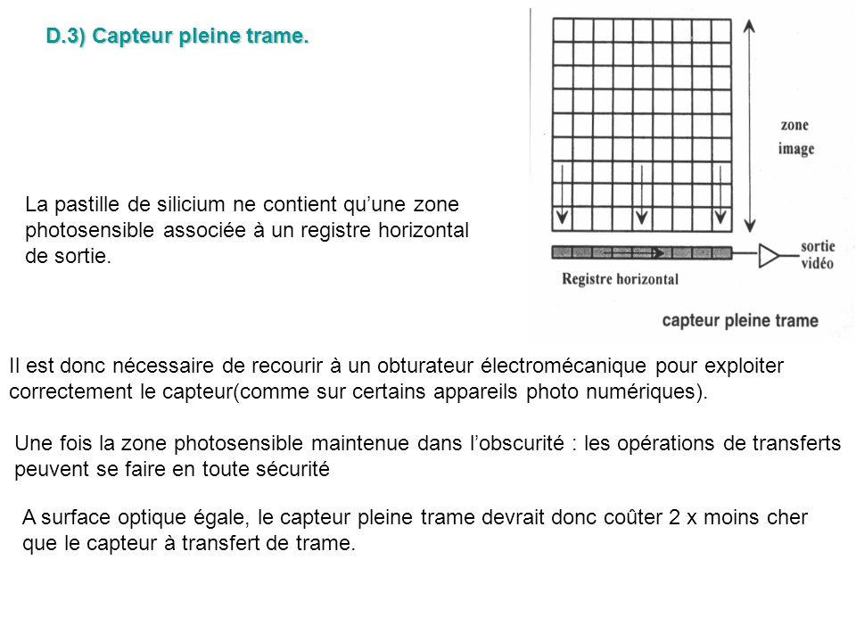 D.3) Capteur pleine trame.