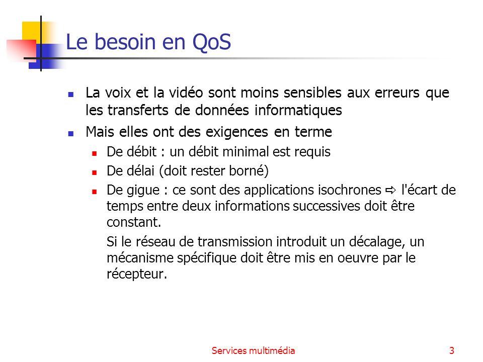 Le besoin en QoS La voix et la vidéo sont moins sensibles aux erreurs que les transferts de données informatiques.