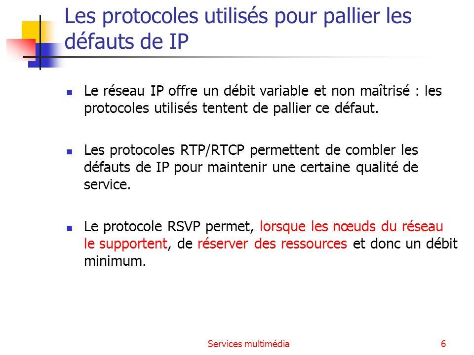Les protocoles utilisés pour pallier les défauts de IP