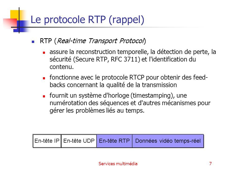 Le protocole RTP (rappel)