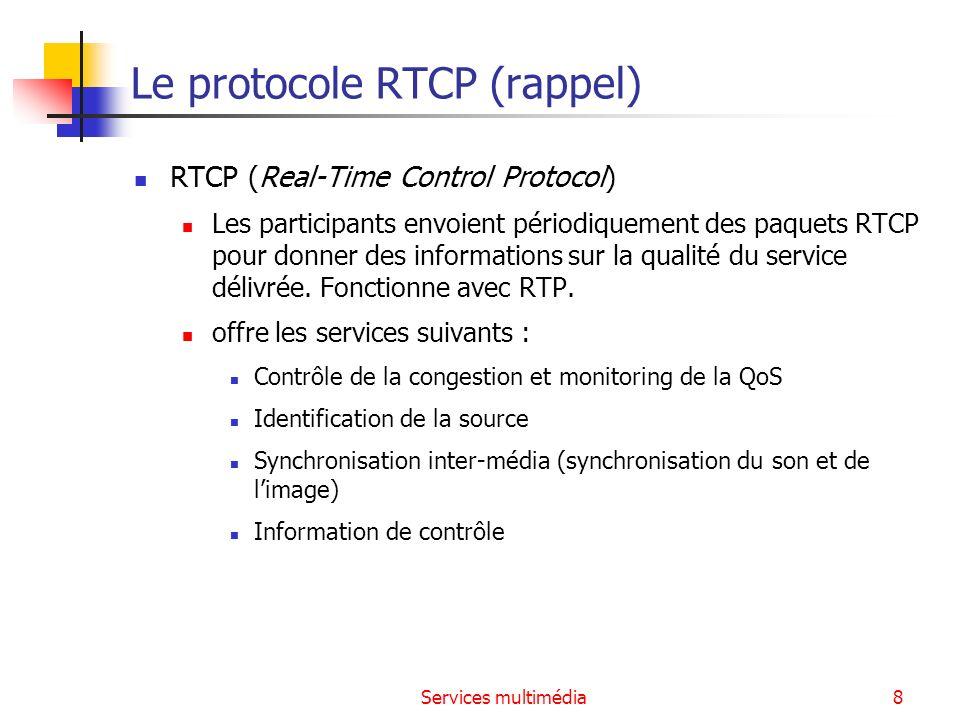 Le protocole RTCP (rappel)