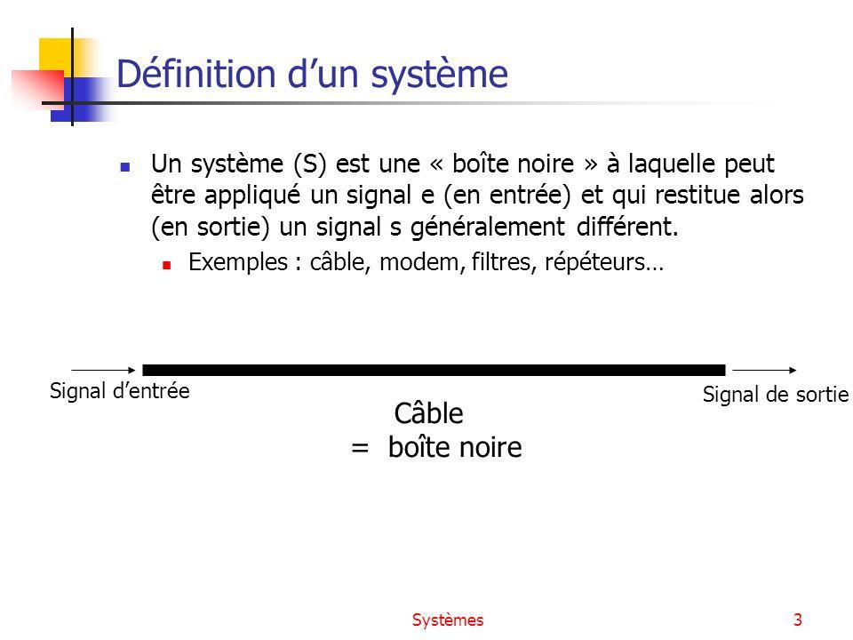 Définition d'un système
