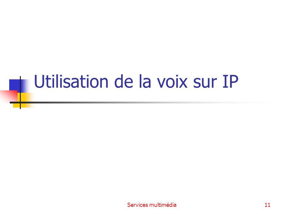 Utilisation de la voix sur IP