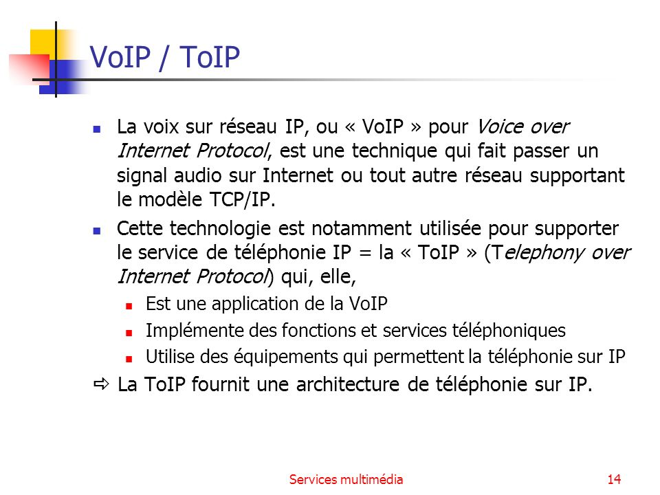 VoIP / ToIP
