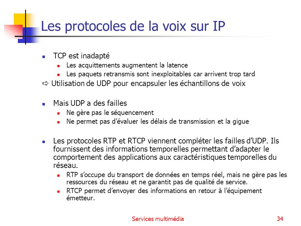 Les protocoles de la voix sur IP