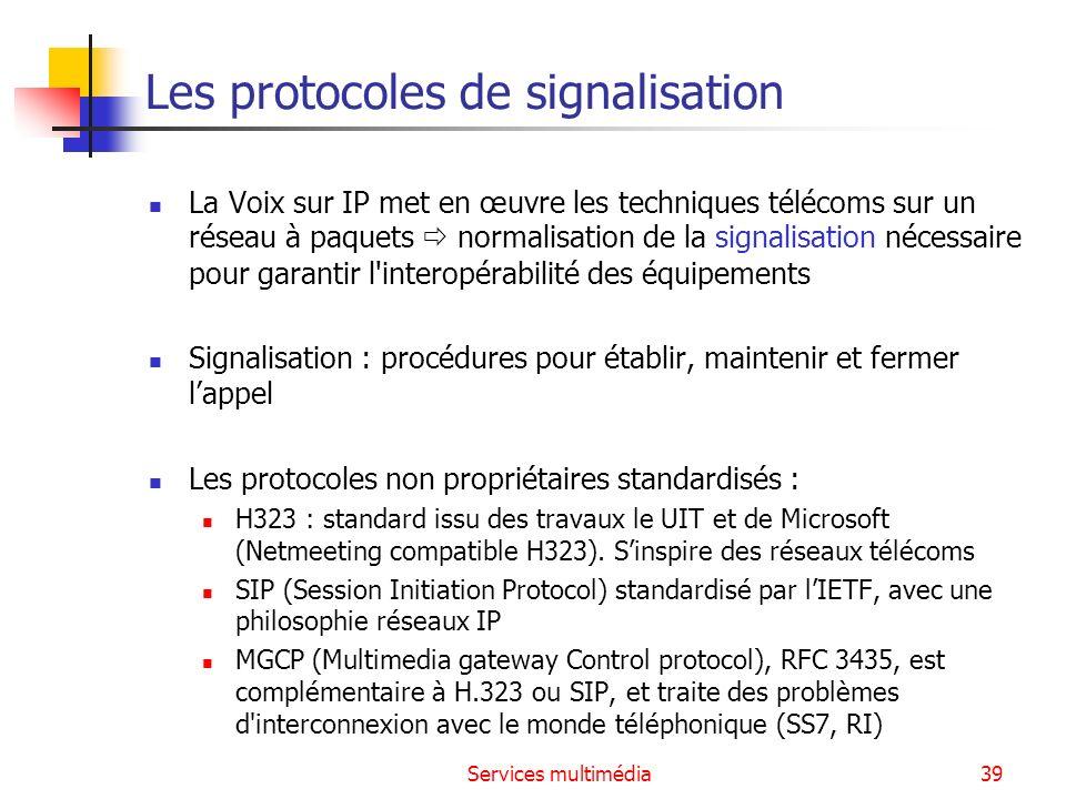 Les protocoles de signalisation